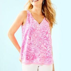 Lily Pulitzer Florin Tank Top in Pink Tropics